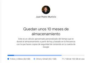 Almacenamiento Google One